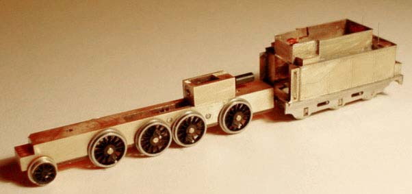 frame with wheels and tender
